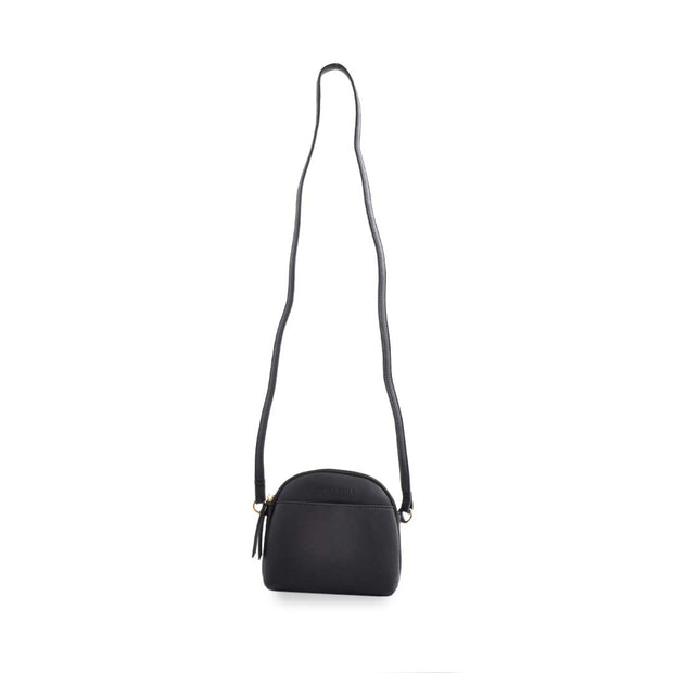 PU Curved Top Bag BLACK