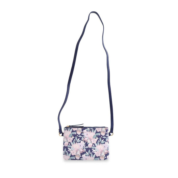 PU Mini Rec Bag - NATIVE BOUQUET
