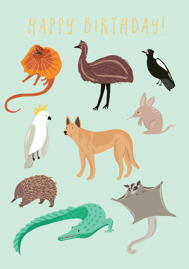 Little Aussie - Aussie Animals Green