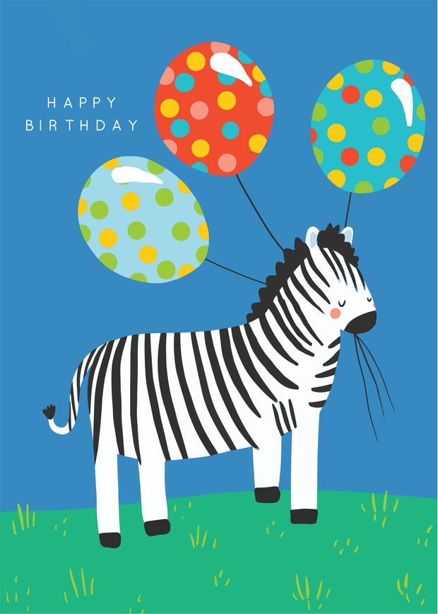 Party Animals - Zebra Balloon