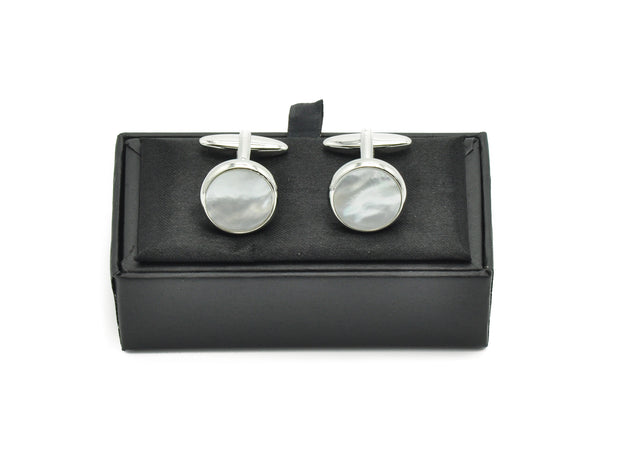 Cufflinks - Round Mother Of Pearl