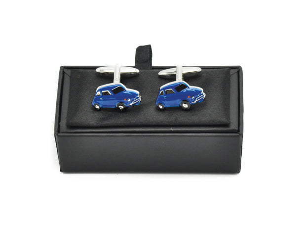 Cufflinks - Retro Blue Card