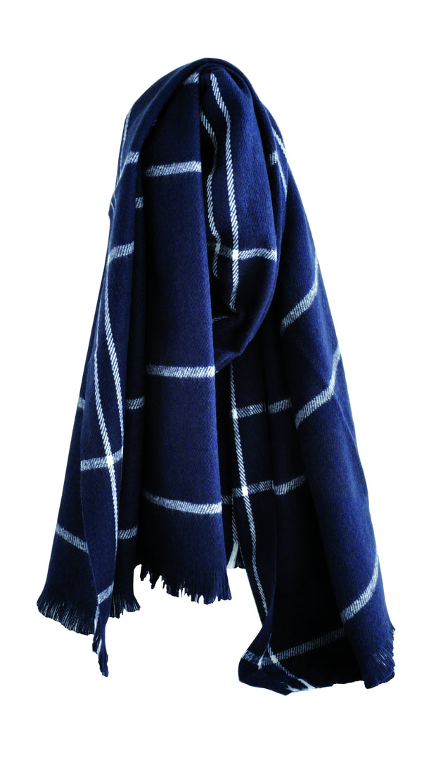 Knitted Scarf - NAVY STRIPE