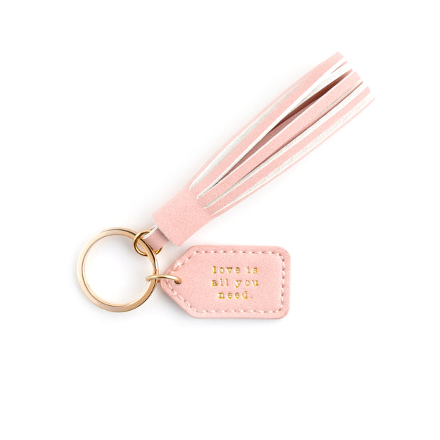 Tag & Tassel Key Chain - LOVE