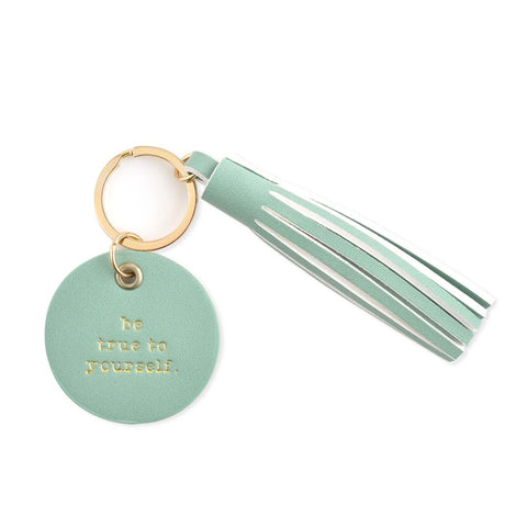 PU Circle & Tassel Key Chain - BE TRUE