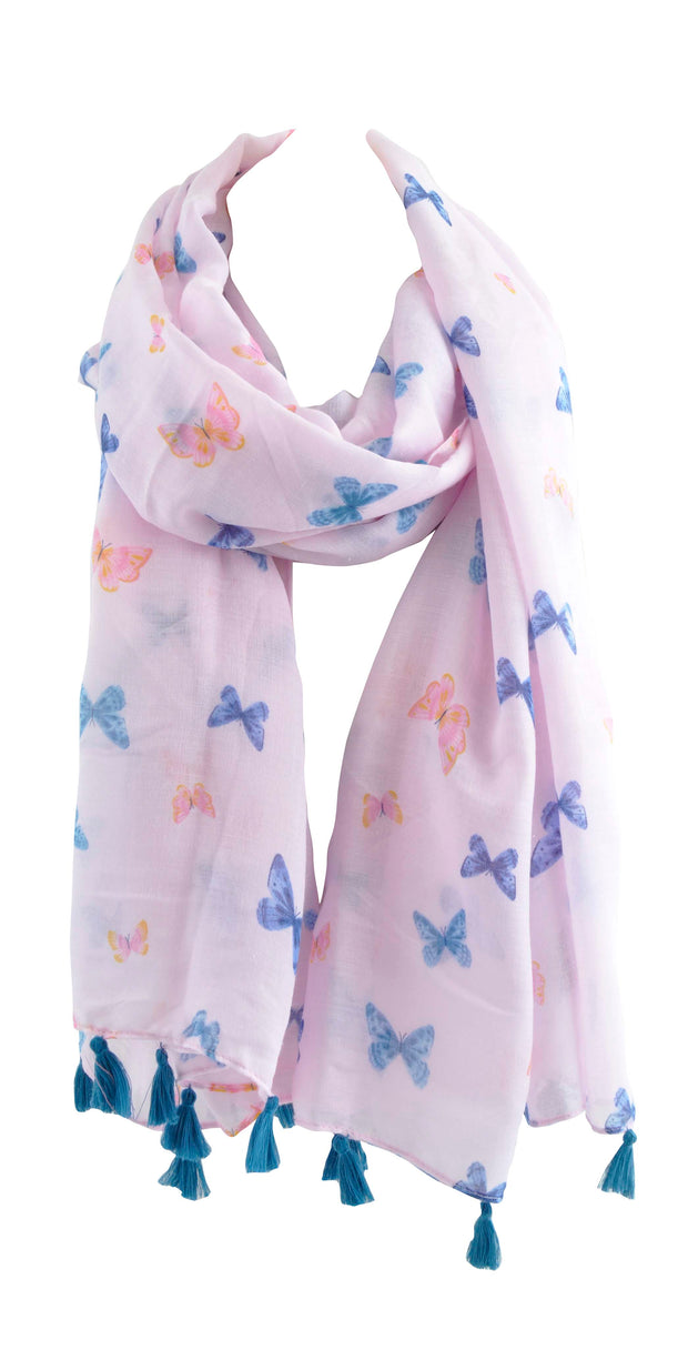 Printed Summer Scarf - BUTTERFLIES