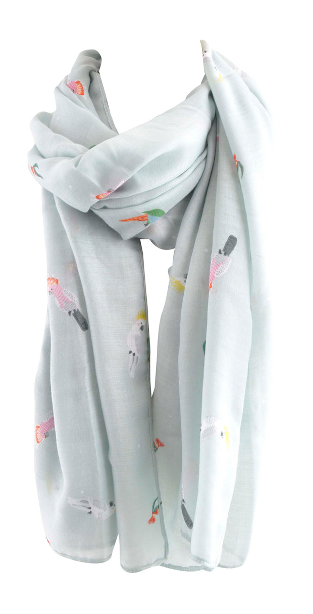 Printed Summer Scarf - FLY AWAY