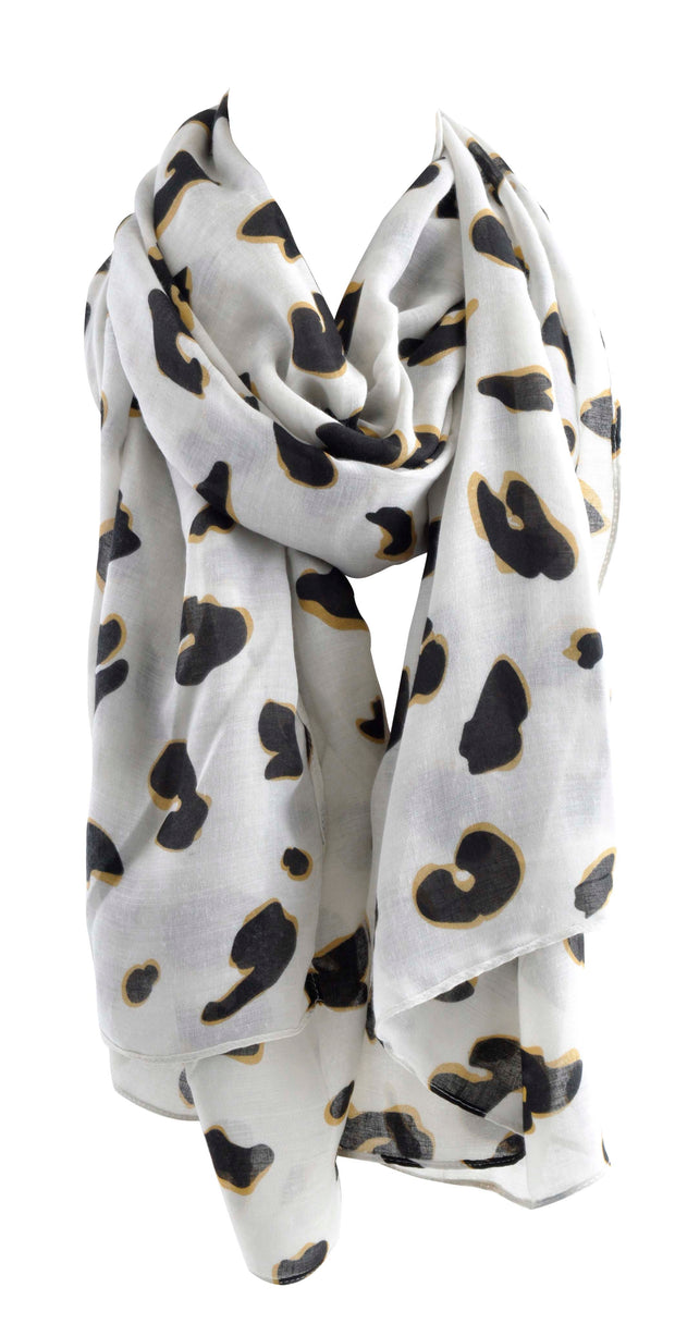 Printed Summer Scarf - LIGHT LEOPARD