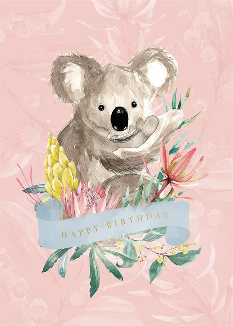 Birthday Card - Koala