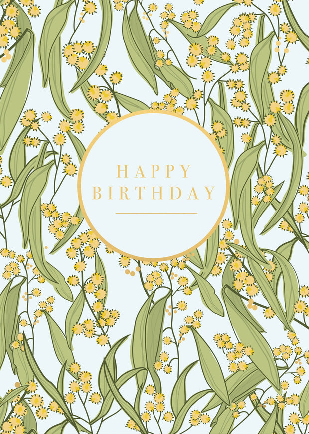 Birthday Card - Wattle