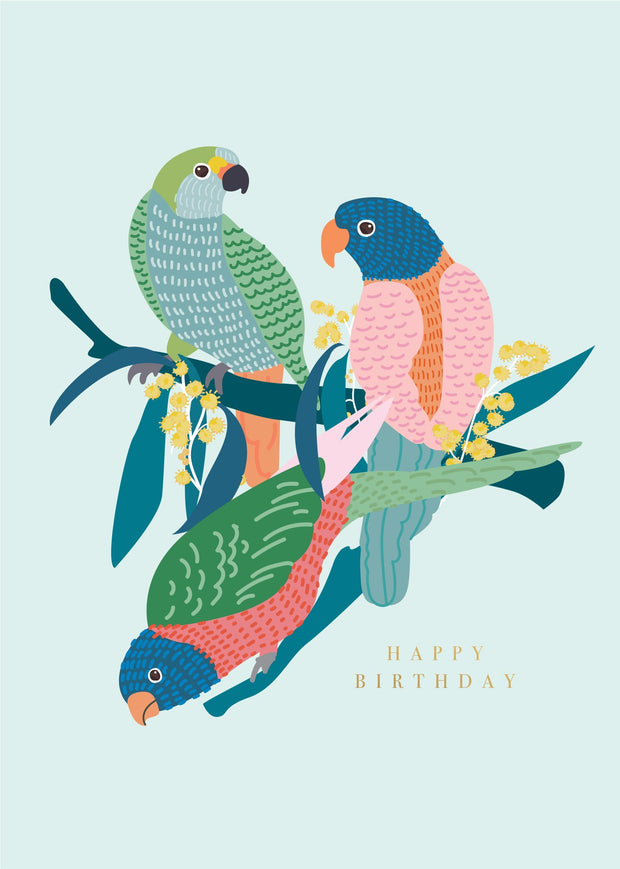 Birthday Card - Native Birds