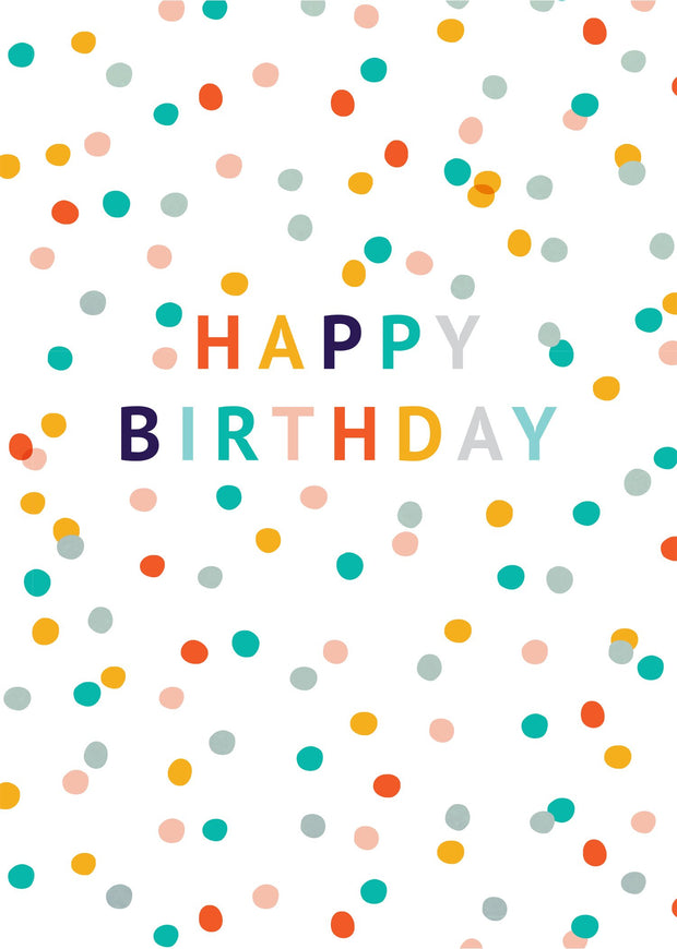 Birthday Card - Coloured Confetti