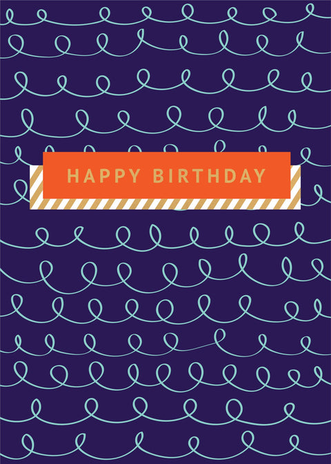 Birthday Card - Squiggly