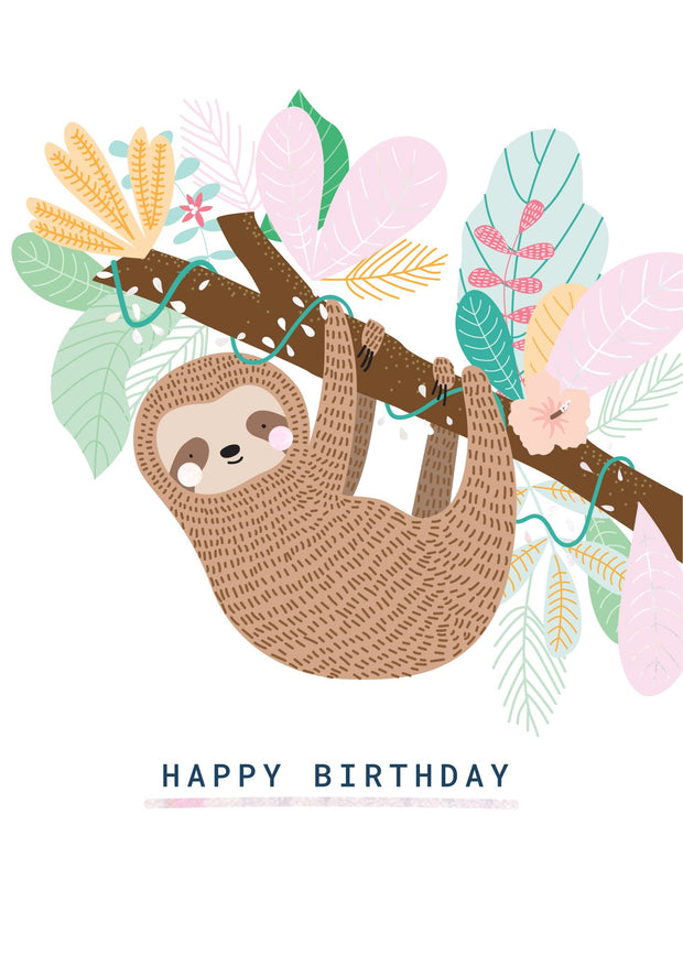 Birthday Card - Mrs Sloth