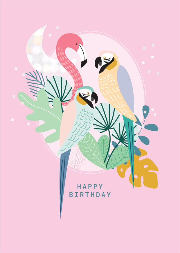 Birthday Card - Tropic Birds