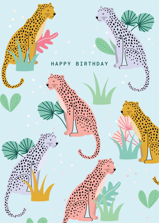 Birthday Card - Leopard Party