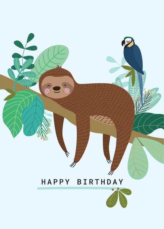 Birthday Card - Mr Sloth