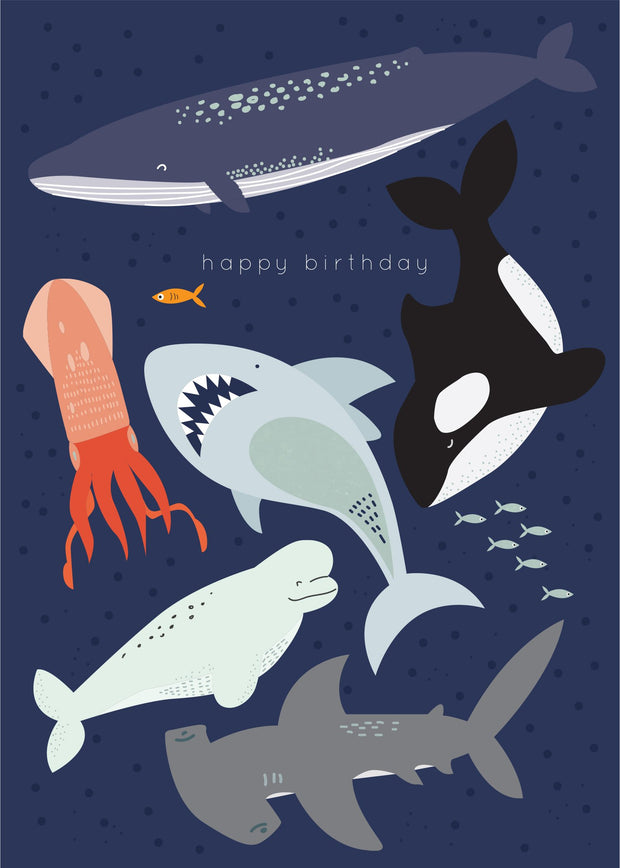 Birthday Card - Deep Sea