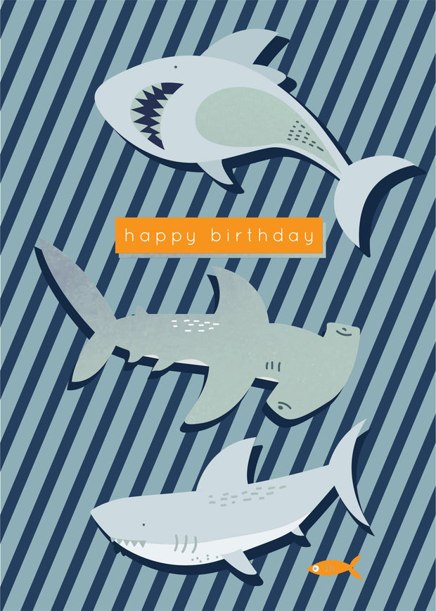 Birthday Card - Sharks