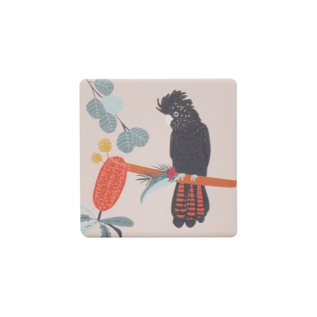 Ceramic Coaster - OPULENT COCKATOO