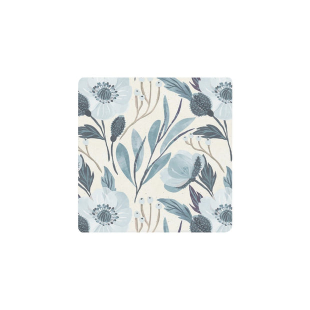 Ceramic Coaster - REVIVAL BLUE PEONY