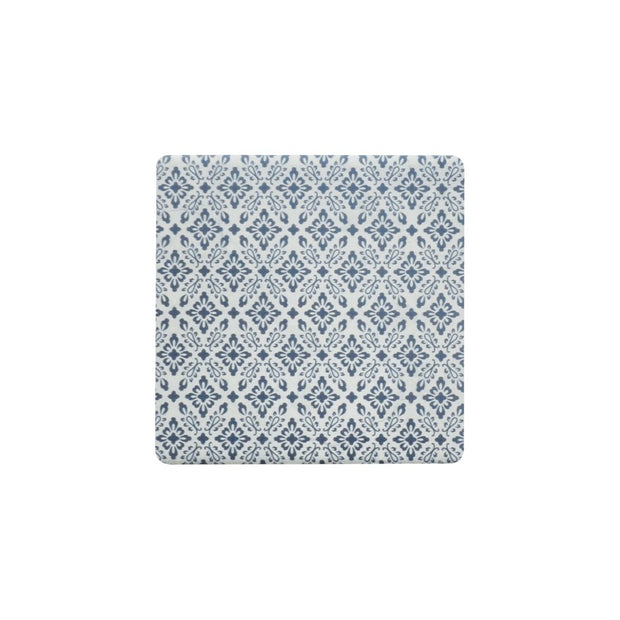 Ceramic Coaster - INDIGO NAVY ORNATE