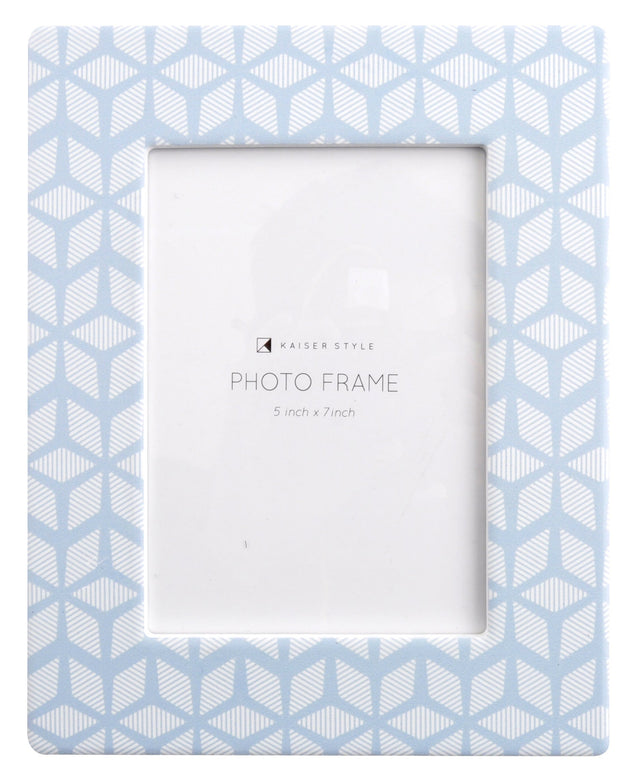 Ceramic 5x7 Photo Frame Bouquet - BLUE GEO