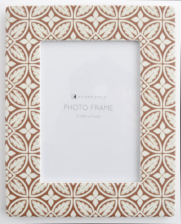 Ceramic 5x7 Photo Frame Revival - RUST TILE
