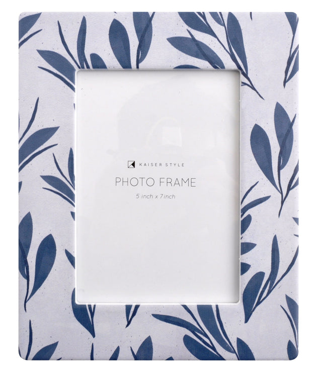 Ceramic 5x7 Photo Frame Revival - BLUE FLORAL