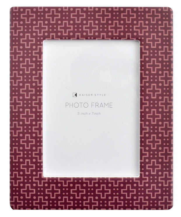 Ceramic 5x7 Photo Frame Opulent - CRISS CROSS