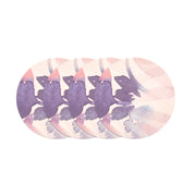 Round Coaster Set 4 - WATERCOLOUR