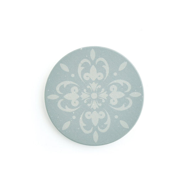 Round Coaster Set 4 - GREEN TILE