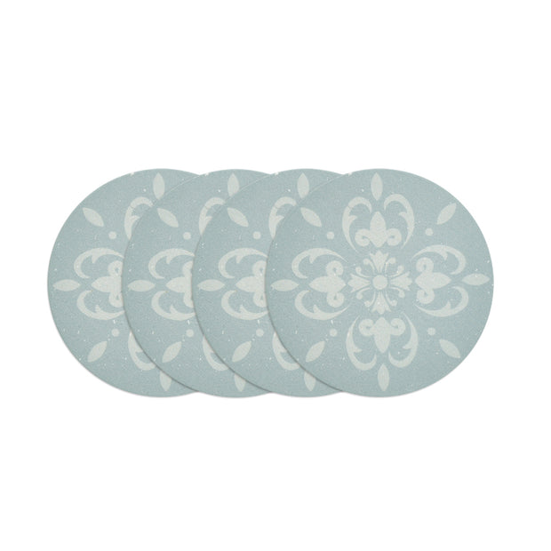 Round Coaster Set GREEN TILE