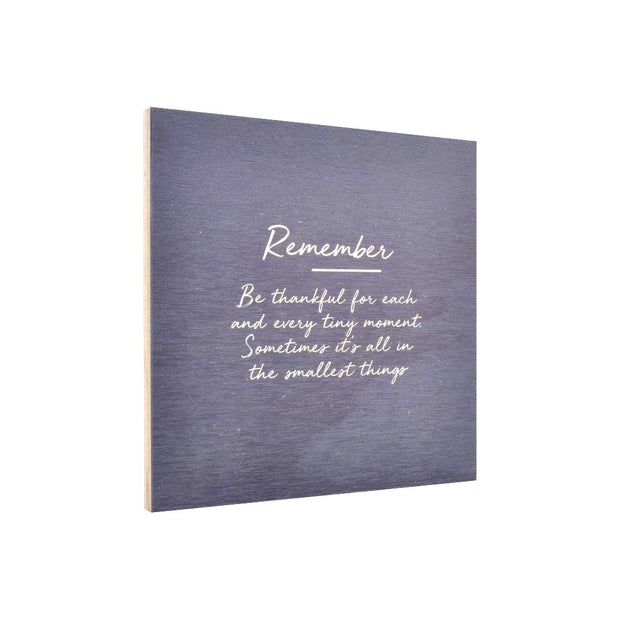 Ply Printed Plaque - REMEMBER
