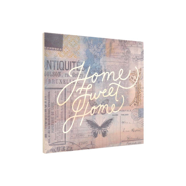 Ply Printed Plaque - HOME SWEET HOME