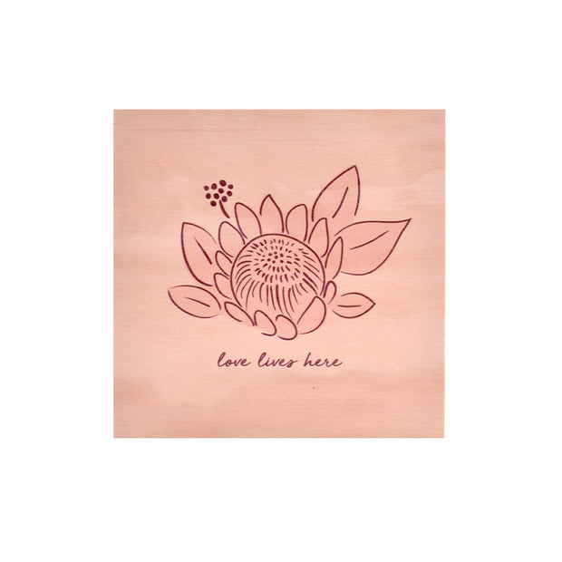 Ply Printed Plaque - LOVE LIVES HERE