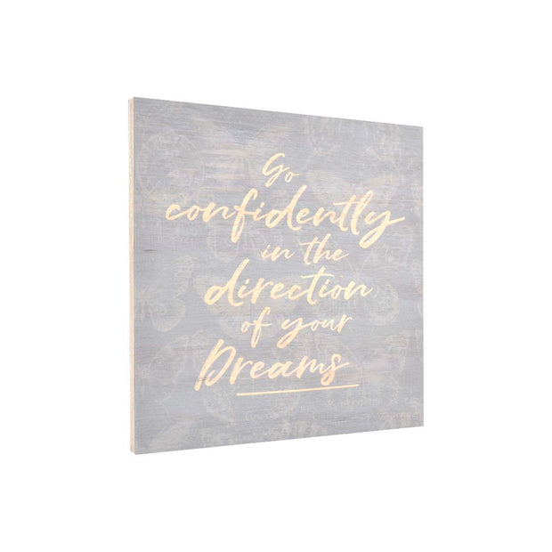 K Style - Ply Printed Plaque - GO CONFIDENTTLY KSH1682