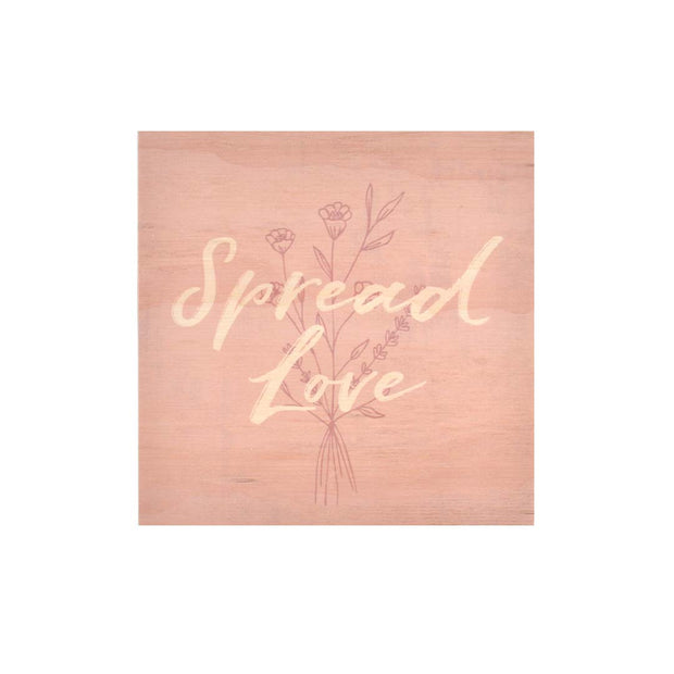 K Style - Ply Printed Plaque - SPREAD LOVE KSH1685
