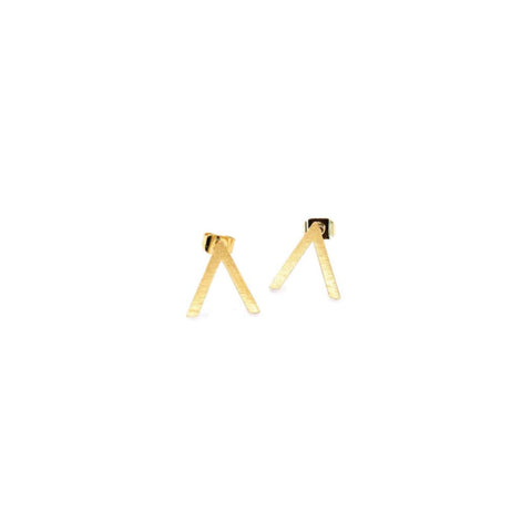 Earring - Abstract - Gold