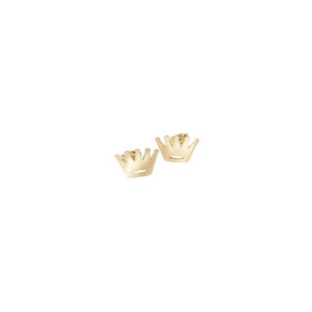 Earring - Crown - Gold