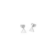 Earring - Triangle - Silver