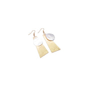 Earring - Double Geo - Gold