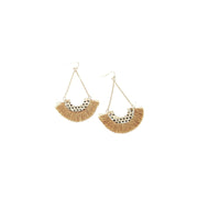 Earring - Tassel - Brown