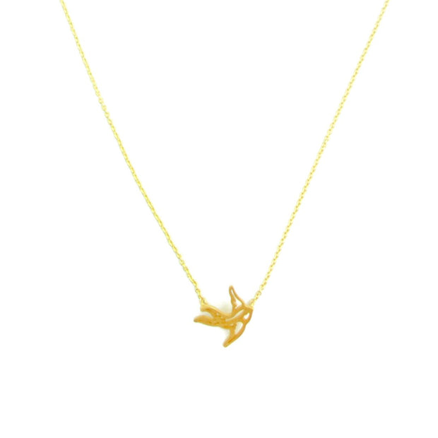 Necklace - Bird - Gold
