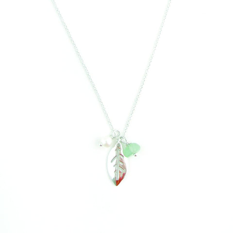 Necklace - Leaf - Silver