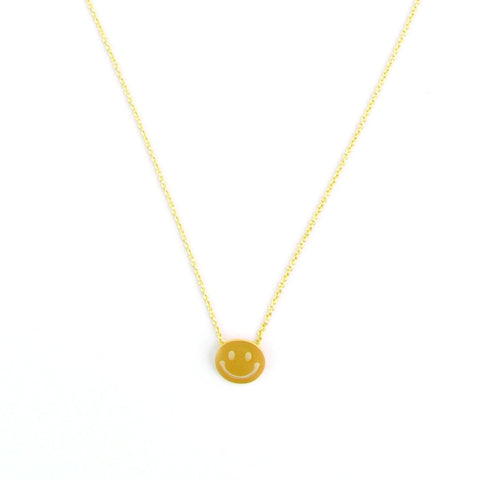 Necklace - Happy - Gold
