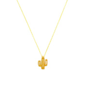 Necklace - Cactus - Gold