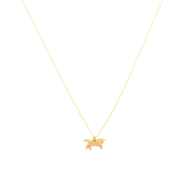 Necklace -  Unicorn - Gold