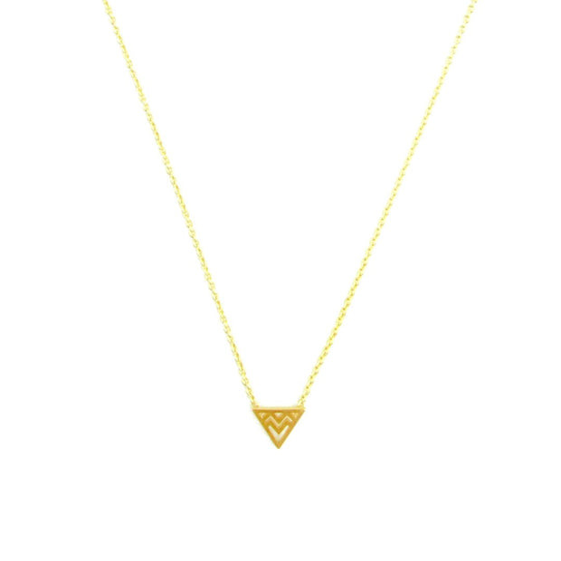 Necklace -  Geo Tri - Gold