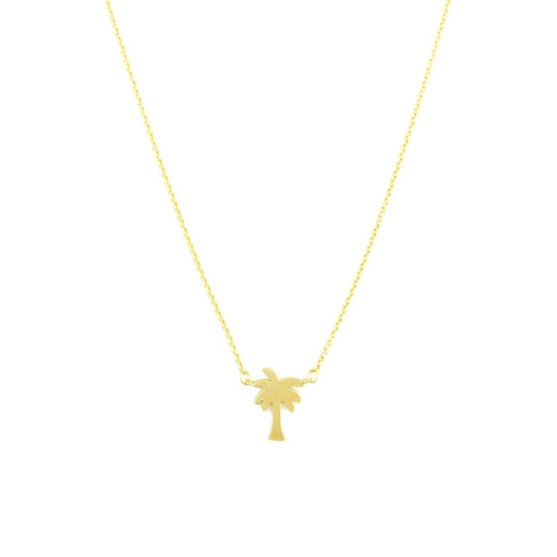 Necklace - Palm Tree - Gold